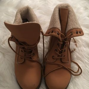 Shearling Lined Winter Boots